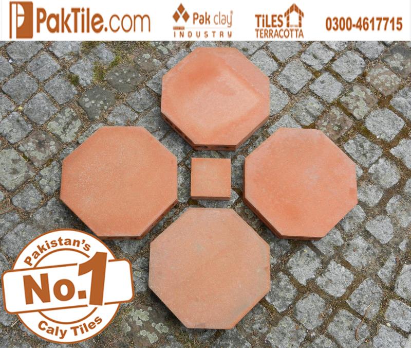 1 Terracotta Octagon Red Bricks Floor Irani Tiles Price in Pakistan Images