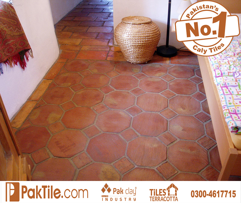 2 Living Bed RoomTerracotta Octagon Red Bricks Floor Irani Tiles Price in Pakistan Images