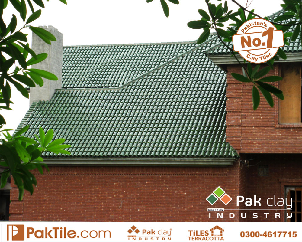 2 Terracotta Tiles Pakistan Green Glazed Khaprail Roof Tiles in Karachi Images
