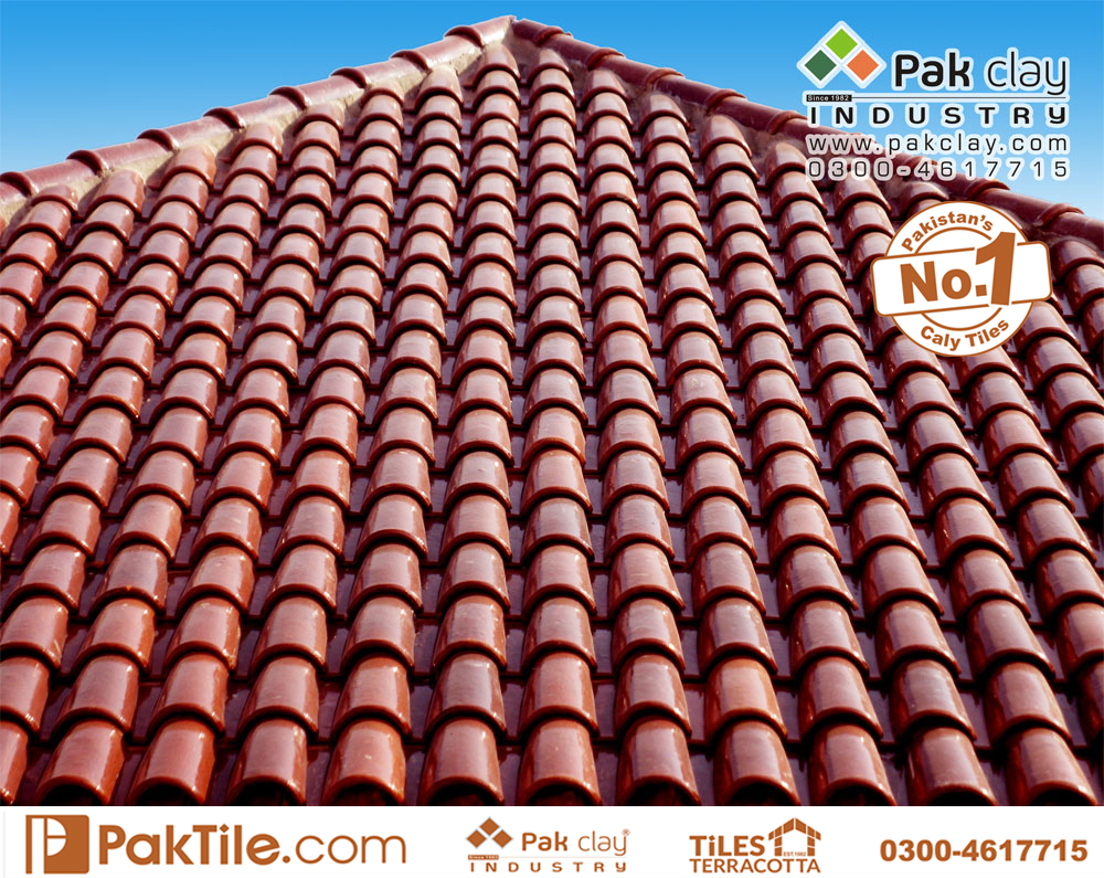 Terracotta heat resistant glazed khaprail roof tiles price in pakistan images
