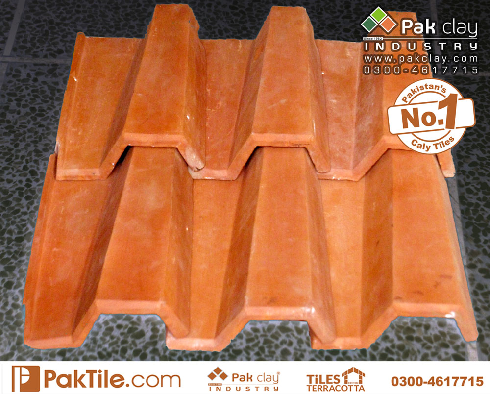 Italian 9″ Clay Roof Tiles – Terracotta Tiles Pakistan