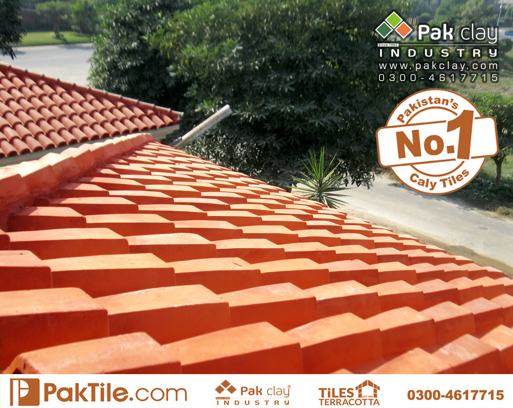 7 Pak Clay Flat Terracotta Bricks Roof Khaprail Tiles Terracotta Roof Tiles Size in Islamabad Images