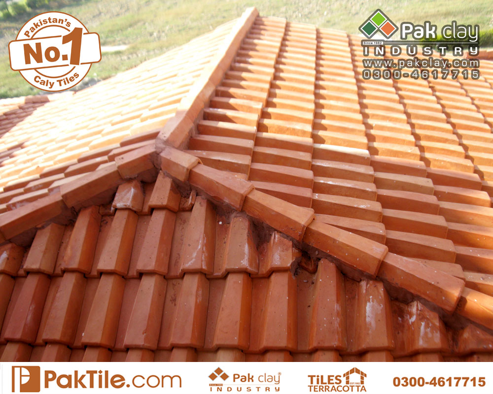 9 Pak Clay Terracotta Home Slope Roof Shed Khaprail Tiles Textures Rates in Pakistan Images