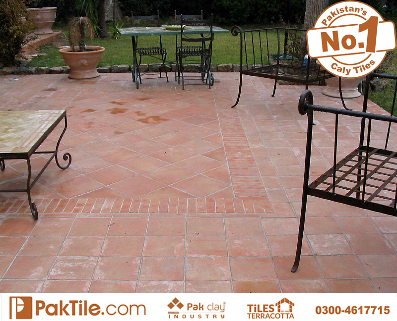 Pak Clay Terracotta Outdoor Floor Tiles Design and Price in Pakistan Images