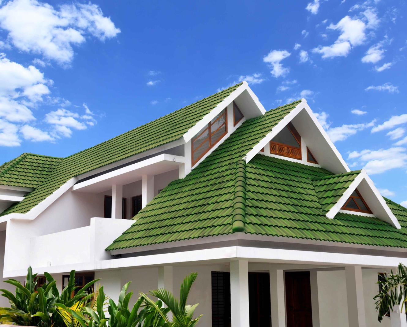 6 Pak Clay Green Glazed Khaprail Roof Tiles Prices in Pakistan Images