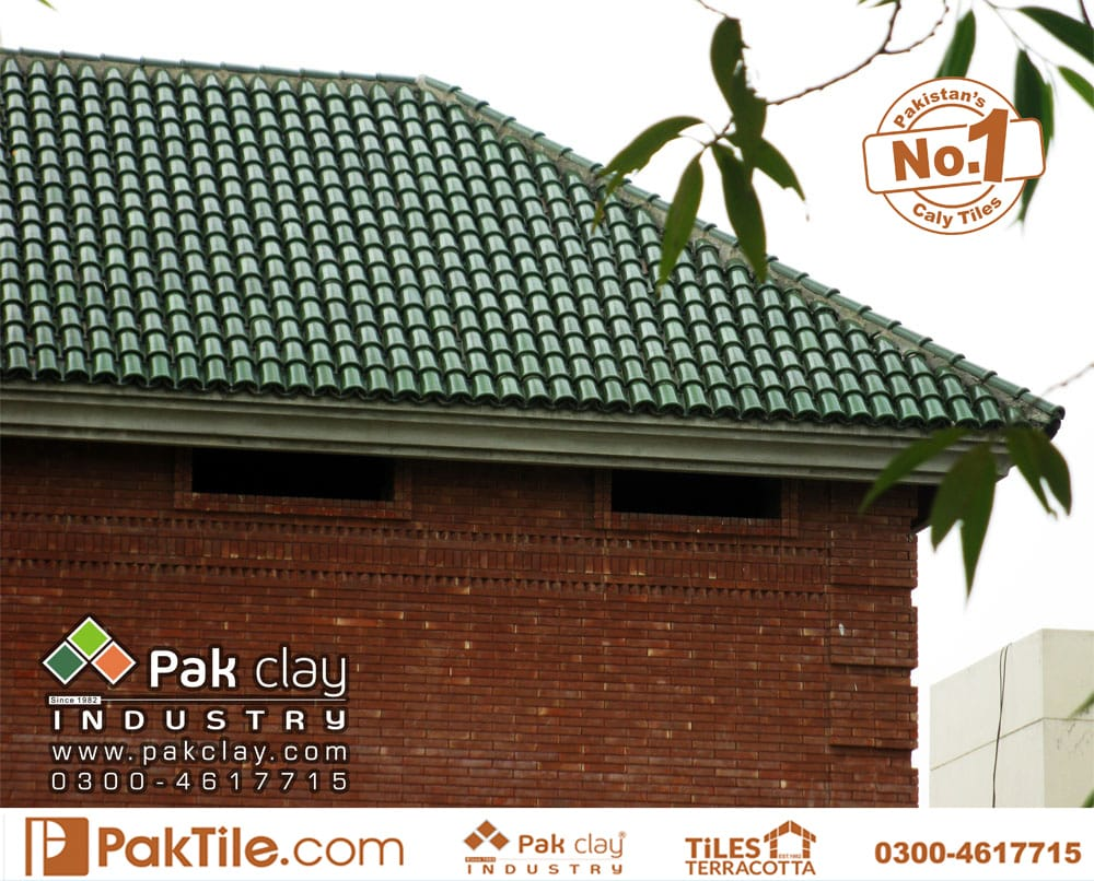 yellow clay roof tiles