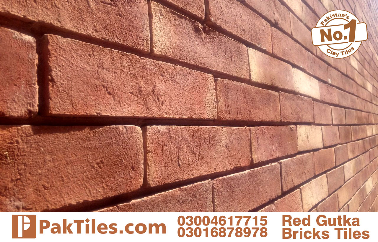 front wall tiles red gutak