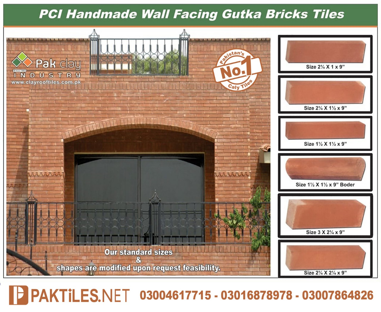 Red Gutka Brick Size in Lahore Pakistan
