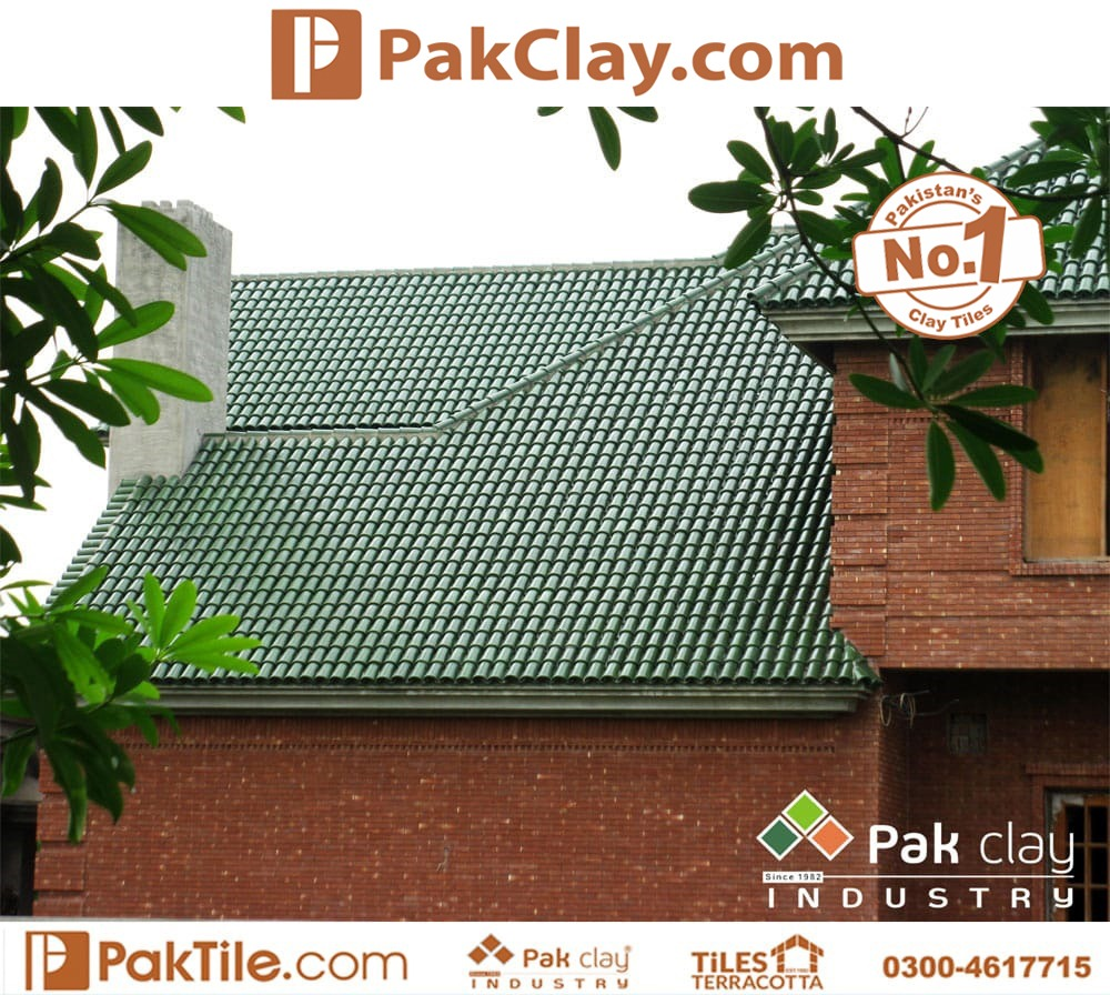 Green Glazed Natural Khaprail Tiles