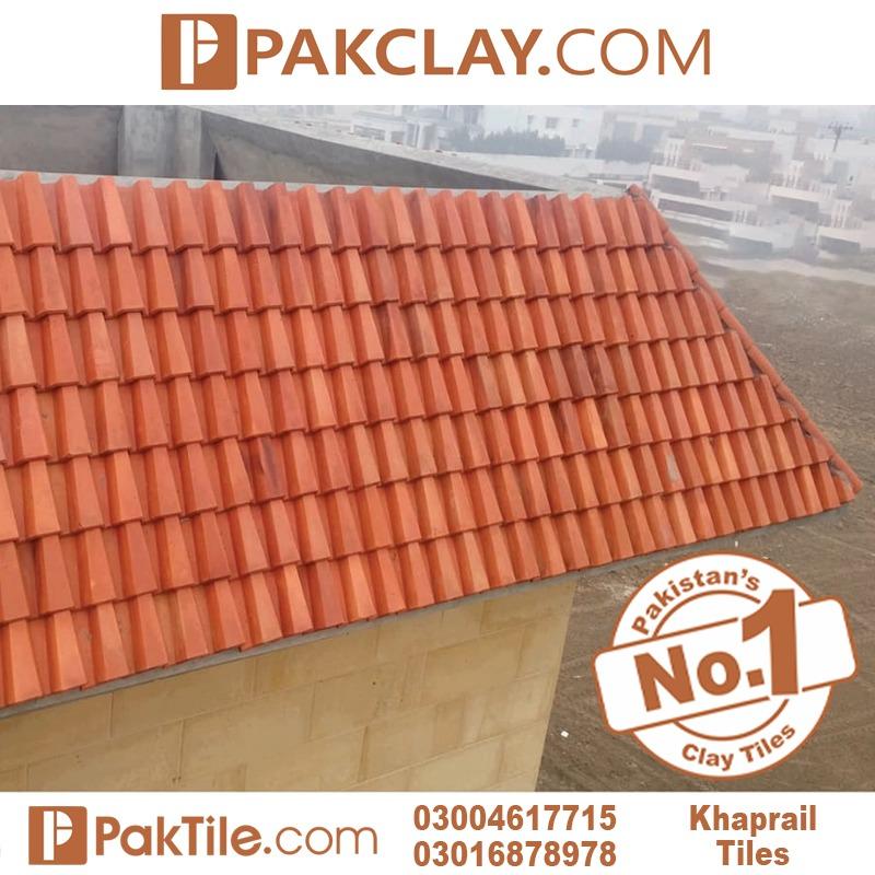 Natural clay khaprail tiles colour in Rawalpindi