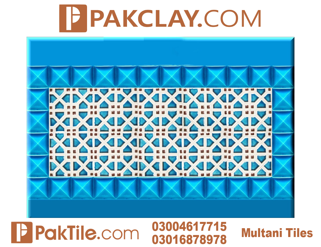 Pak Clay Outdoor Face Tiles Blue Multani Tiles